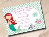 Little Mermaid Pool Party Invitations Little Mermaid Swim Party Birthday Invitation