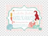 Little Mermaid Pool Party Invitations Mermaid Party Invitation Pool Party Invitation Under