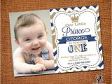 Little Prince First Birthday Invitation Little Prince Birthday Invitation with Picture by