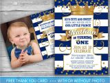 Little Prince First Birthday Invitation Prince Invitation Little Prince First Birthday Number One