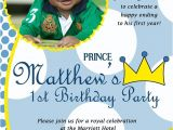Little Prince First Birthday Party Invitations Items Similar to Little Prince Custom Digital