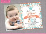 Little Prince First Birthday Party Invitations Little Prince Birthday Invitation Boy 1st First Birthday