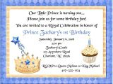 Little Prince First Birthday Party Invitations Prince Birthday Party Invitations Prince