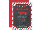 Little Red Wagon Birthday Party Invitations Little Red Wagon Birthday Invitation