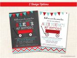 Little Red Wagon Birthday Party Invitations Little Red Wagon Birthday Party Invitations First Birthday