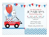 Little Red Wagon Birthday Party Invitations Little Red Wagon Cartoon Party Invitation