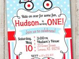 Little Red Wagon Birthday Party Invitations Red Wagon Birthday Invitation Little Red by thelovelyapple