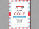 Little Red Wagon Birthday Party Invitations Red Wagon Birthday Invitations Little Red Wagon Mb62 Digital