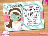 Little Spa Party Invitations Digital Spa Party Invitation Little Girls by