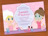 Little Spa Party Invitations Kids Spa Party Invitation Girls Spa Party Invitation Spa