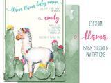 Llama Baby Shower Invitations Llama Baby Shower Invitation Custom Party Invite Baby