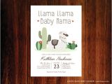 Llama Baby Shower Invitations Llama Baby Shower Invitation Fiesta Invitation Llama