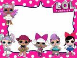 Lol Birthday Invitation Template Free Lol Surprise Dolls Invitation Templates Free
