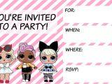 Lol Birthday Invitation Template L O L Surprise Invitations Bella Ideas Surprise