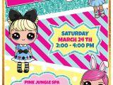 Lol Birthday Invitation Template Lol Surprise Dolls Printable Invitation Customized In