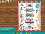Lorax Baby Shower Invitations Dr Seuss Cat Hat Lorax Baby Shower Party Invitations
