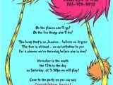 Lorax Baby Shower Invitations Dr Seuss Lorax and Tree Baby Shower Custom Invitation