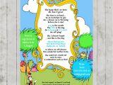 Lorax Baby Shower Invitations Dr Seuss Lorax Baby Shower Printable Invitation Design