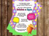 Lorax Baby Shower Invitations Dr Seuss the Lorax Baby Shower Invitations 15