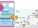 Lorax Baby Shower Invitations the Lorax Dr Seuss Baby Shower Invitation by Larissakaydesigns