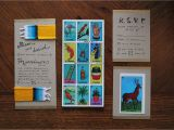 Loteria Wedding Invitations Modern Day Bullfight Finished Diy Loteria Wedding