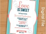 Love is Sweet Bridal Shower Invitation Wording Love is Sweet Bridal Shower Invitation Customizable