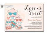 Love is Sweet Bridal Shower Invitation Wording Love is Sweet Bridal Shower Invitation Pink by