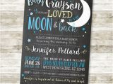 Love You to the Moon and Back Baby Shower Invitations Baby Shower Invitation Love You to the Moon and by