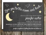 Love You to the Moon and Back Baby Shower Invitations Love You to the Moon and Back Baby Shower by Oliveberrypaper