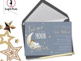 Love You to the Moon and Back Baby Shower Invitations Love You to the Moon and Back Vintage Baby Shower