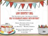 Low Country Boil Party Invitations Low Country Boil Birthday or Wedding Shower Invite Digital