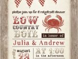 Low Country Boil Party Invitations Low Country Boil Crab Barbeque Engagement Rehersal Dinner