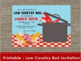 Low Country Boil Party Invitations Low Country Boil Party Invitation Diy Printable