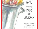 Low Country Boil Party Invitations Low Country Boil Rehearsal Dinner Invites Rehearsal