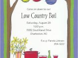 Low Country Boil Party Invitations Outdoor Buffet
