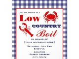 Low Country Boil Party Invitations Personalized Red Gingham Invitations Custominvitations4u Com