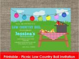 Low Country Boil Party Invitations Picnic Low Country Boil Party Invitation Diy Printable