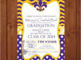 Lsu Party Invitations Items Similar to Lsu Graduation Louisiana Graduation