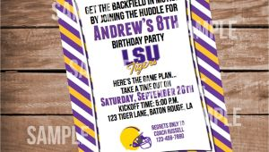 Lsu Party Invitations Lsu Football Birthday Invitation
