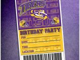 Lsu Party Invitations Lsu Greeting Card Collection Lsu Tigers Football Birthday
