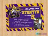 Lsu Party Invitations Lsu Purple Gold Birthday Invitation Printable