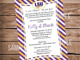 Lsu Party Invitations Lsu Tigers Football Bridal Shower Invitation Tailgate Party