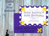Lsu Party Invitations Purple and Gold Lsu Invitation Birthday by