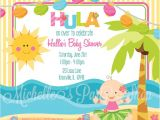 Luau themed Baby Shower Invitations Luau Baby Shower Invitations