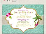 Luau themed Baby Shower Invitations Luau Party Custom Baby Shower Invitation Bridal Shower