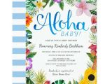 Luau themed Baby Shower Invitations Watercolor Luau Baby Shower Invite Blue