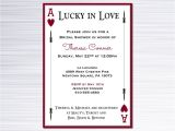 Lucky In Love Bridal Shower Invitations Lucky In Love Bridal Shower Invitation by Rathercleverdesigns