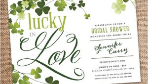 Lucky In Love Bridal Shower Invitations Lucky In Love Bridal Shower Invitation Digital File