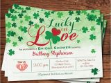 Lucky In Love Bridal Shower Invitations Lucky In Love Bridal Shower Invitation St Patrick by