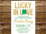 Lucky In Love Bridal Shower Invitations Lucky In Love Bridal Shower Invitation St Patricks Day